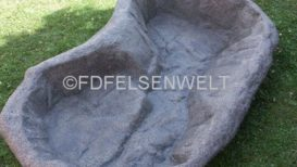 Felsenbecken P 200. L 200 cm, B 115 cm, T 30 - 12 cm, ca. 200 Ltr.